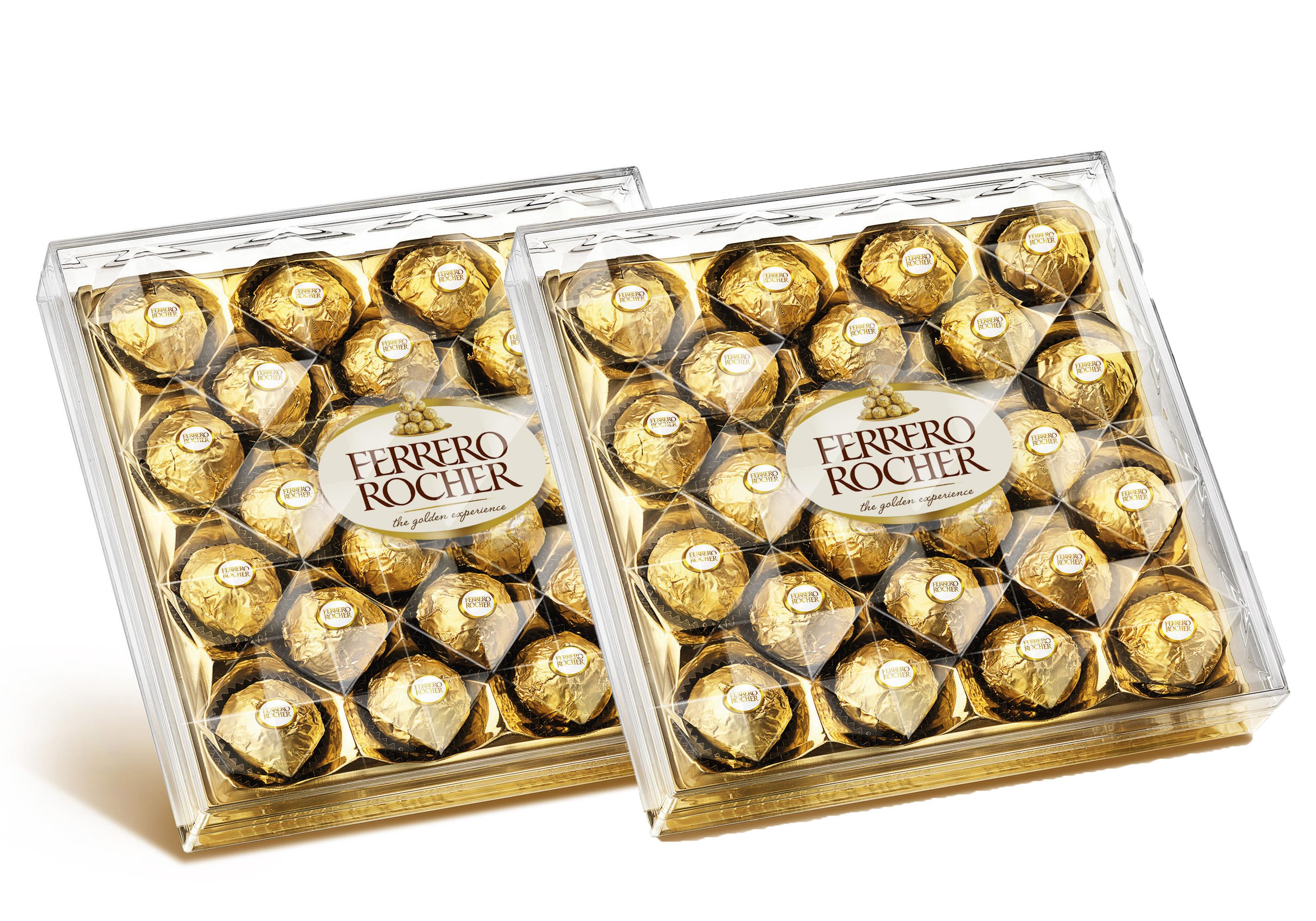 [[bundle Of 2]] Ferrero Rocher Chocolate 300g (t24 X2, Halal Certification) By B-Mart.