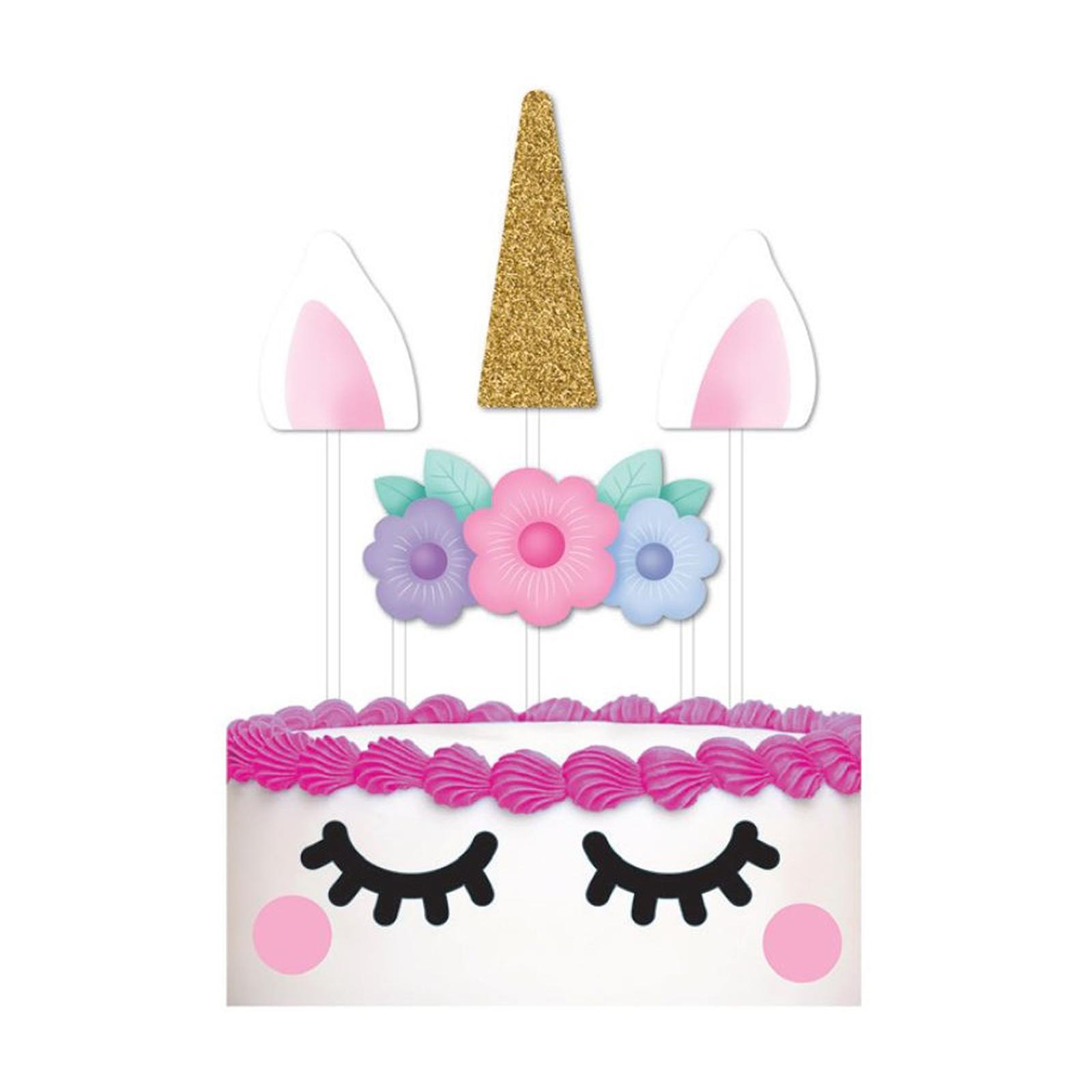 Artwrap Party Cake Topper Pack - Unicorn