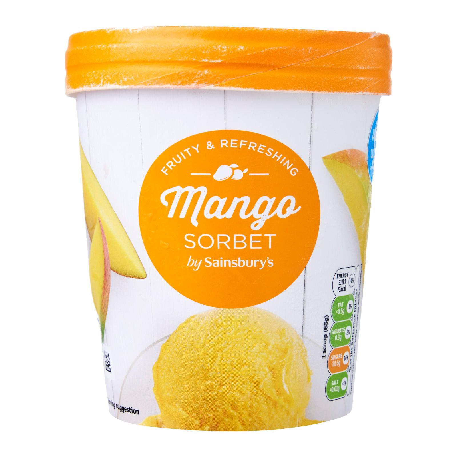 Sainsbury's Mango Sorbet - Frozen