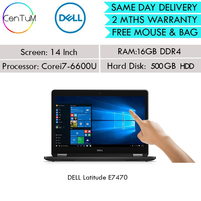 [Same Day Delivery] Refurbished Dell Latitude E7270 E7470 Touch Screen 12 14 Inch Core i5 i/ 7 / 8GB /16GB / 256SSD / [Up to 24 Months Warranty]