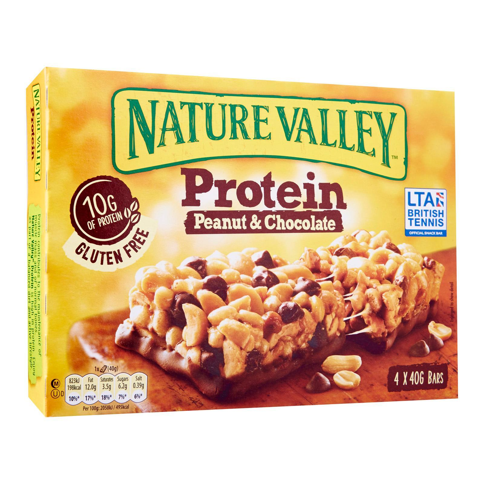 Nature Valley Gluten Free Protein Peanut Butter Chocolate Chewy Bars By Redmart.