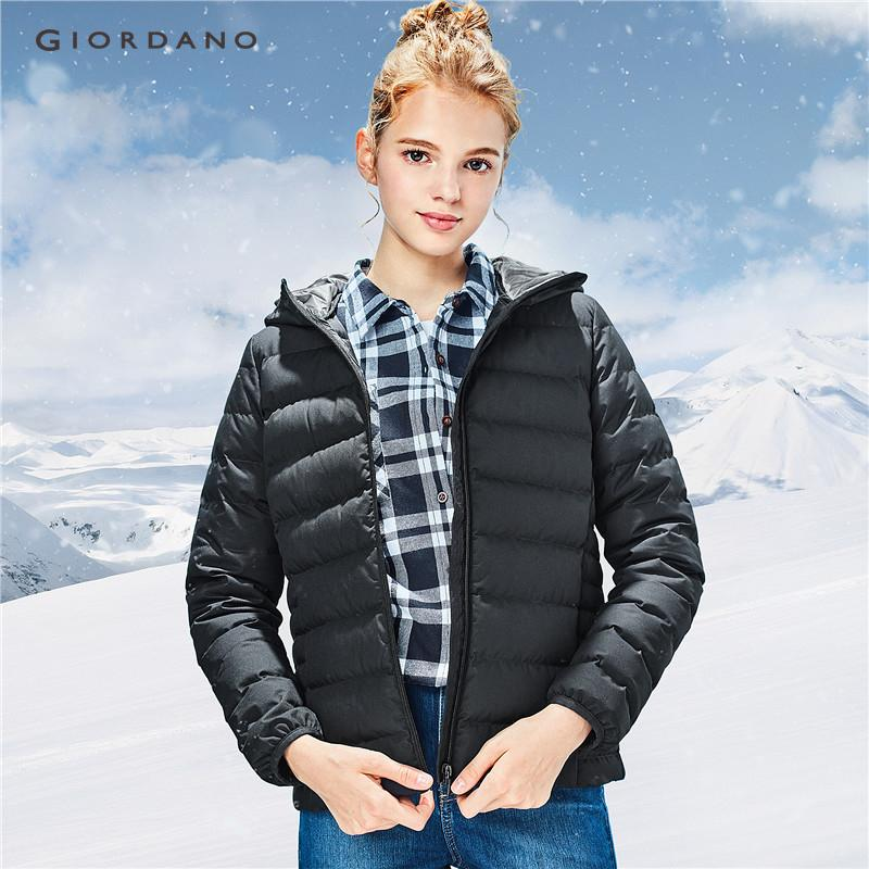 Giordano Women 90% White Goose Down Hood Lightweight Down Jacket [free Shipping] 05378716 By Giordano Official.