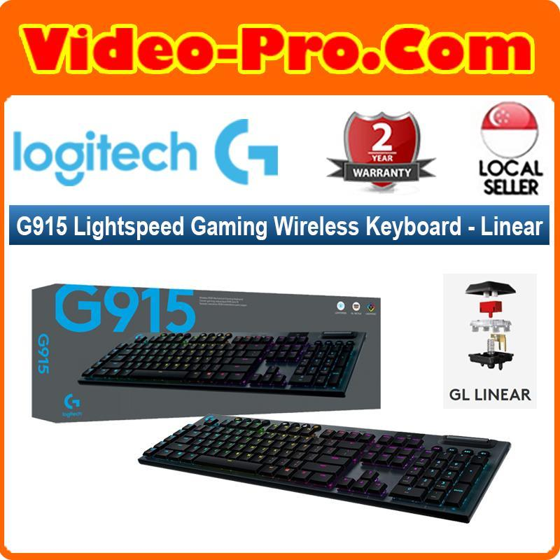 Logitech G915 LightSpeed Wireless RGB Mechanical Gaming Wireless Keyboard Linear 920-009227 2-Years Local Warranty Singapore