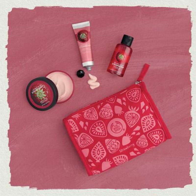 Buy The Body Shop Irresistibly Juicy Strawberry Delights Bag Singapore