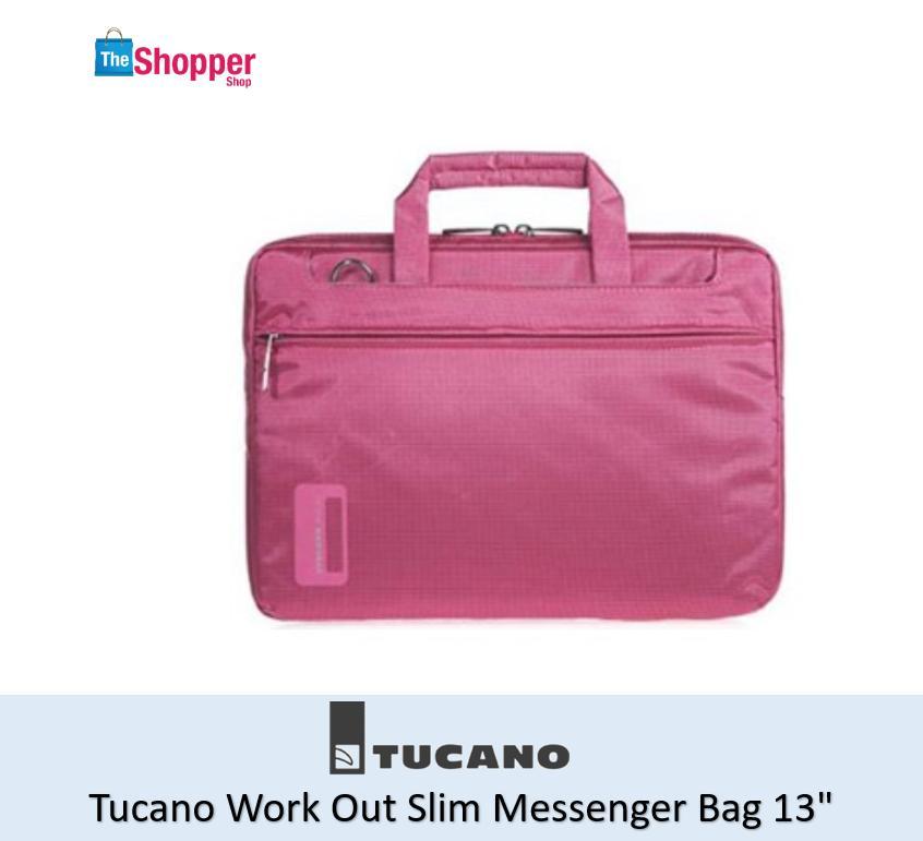 Tucano Work Out Slim Messenger Bag 13.3  (Hot Pink)