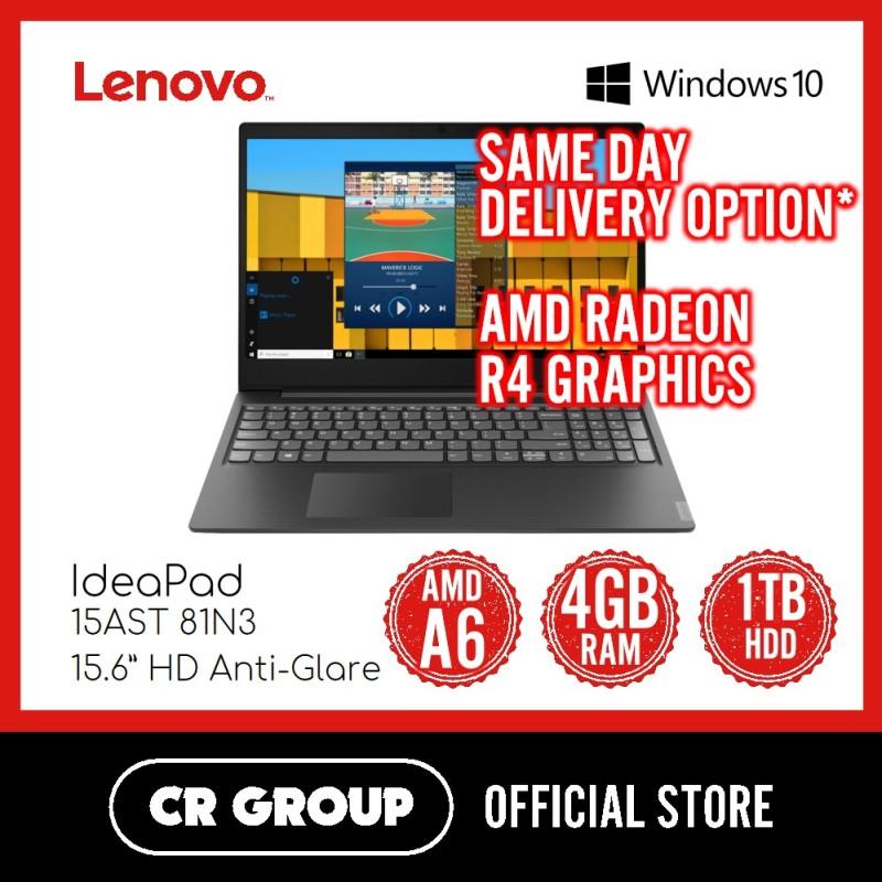 Same Day Delivery Option* Lenovo IdeaPad S145 15AST 81N3 | AMD A6-9225 | 4GB DDR4 | 1TB HDD | 15.6 HD Anti-Glare | AMD Radeon R4 Graphics
