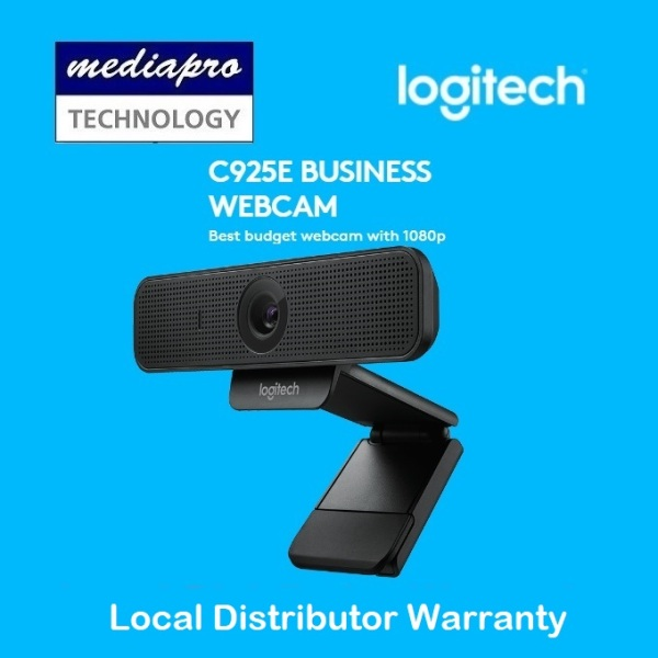 Logitech C925E Business Webcam Best Budget Webcam with 1080p and Integrated Privacy Shutter - 3 Years Local Warranty by Logitech Singapore