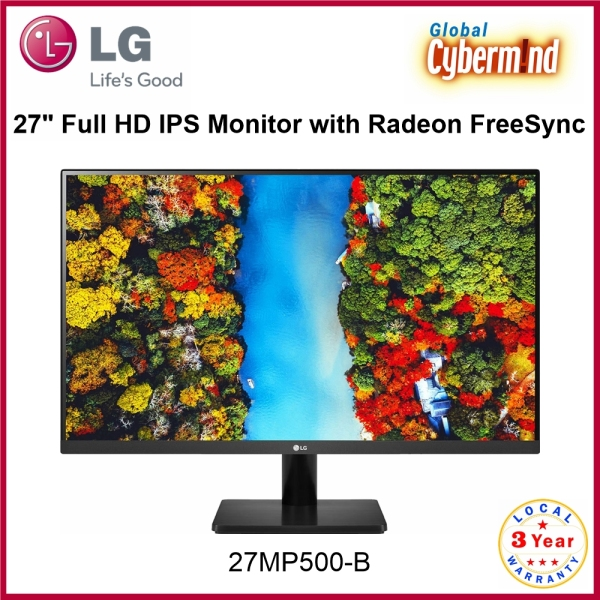 LG 27MP500-B 27 LG 27 27MP500 Full HD IPS Monitor with Radeon FreeSync (Brought to you by Global Cybermind)