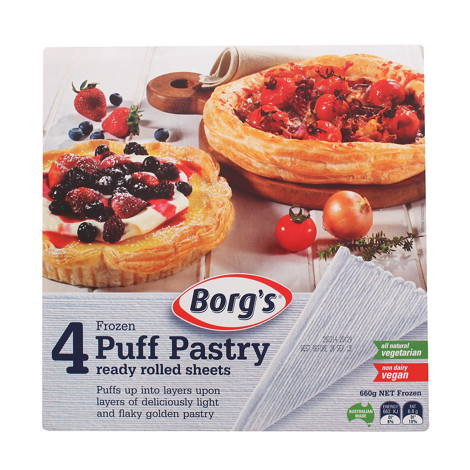 Borgs Puff Pastry 4pcs - Frozen By Redmart