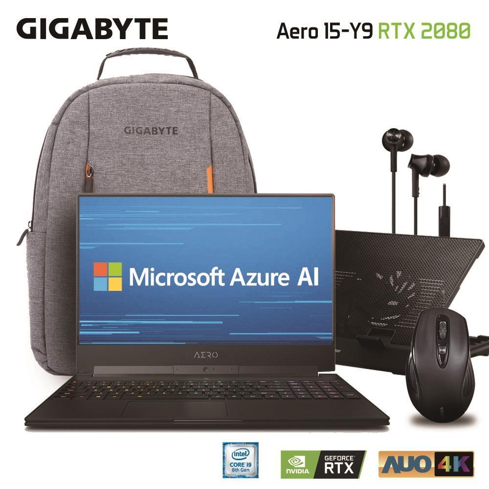 GIGABYTE AERO 15-Y9 Core i9-8950HK NVIDIA GeForce RTX 2080 Memory 32GB Intel SSD 2TB Win10 Pro High-End 15.6 4K UHD Slim & Light Gaming Laptop [Ships 2-3 days]