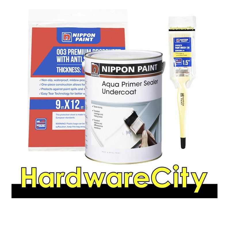 Nippon Paint Aqua Primer Sealer Undercoat White 1 Litre Package [aqua Water Based Sealer] By Hardwarecity Online Store.