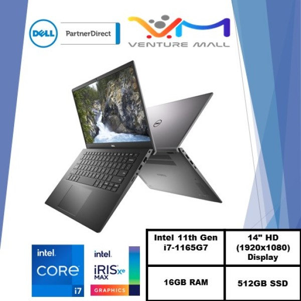 New 11th Gen (READY STOCK) New Vostro 14 5402- i7-1165G7/Win 10 Pro/ Iris® Xe Graphics /16GB RAM/512GB SSD/3yrs onsite warranty