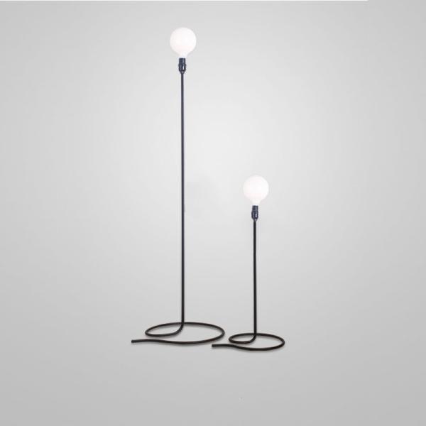 The Headlight Lamp Floor Living Room Metal with a Standing Lamp by Simple Bedroom shu fang deng Creative Lamp Floor Lamp