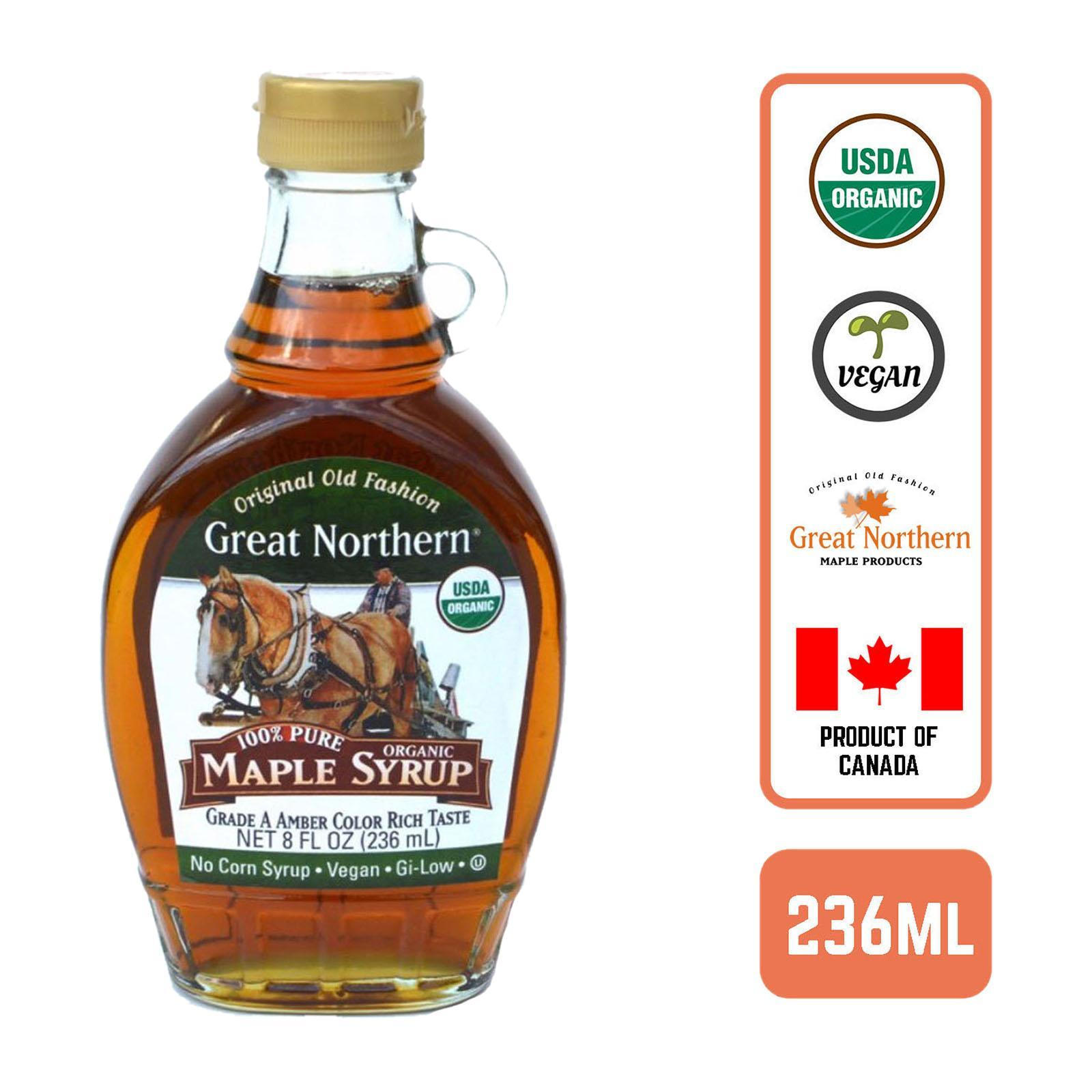 Great Northern Grade A 100% Pure Organic Maple Syrup 236ml By Redmart.