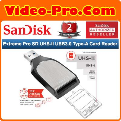 Sandisk Extreme Pro SD UHS-II USB3.0 Type-A Card Reader SDDR-399-G46
