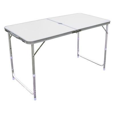 JIJI (120cm) (180cm) Portable Aluminium Folding Table (Blue) (Bamboo) - Outdoor Tables / Foldable / Furniture (SG)