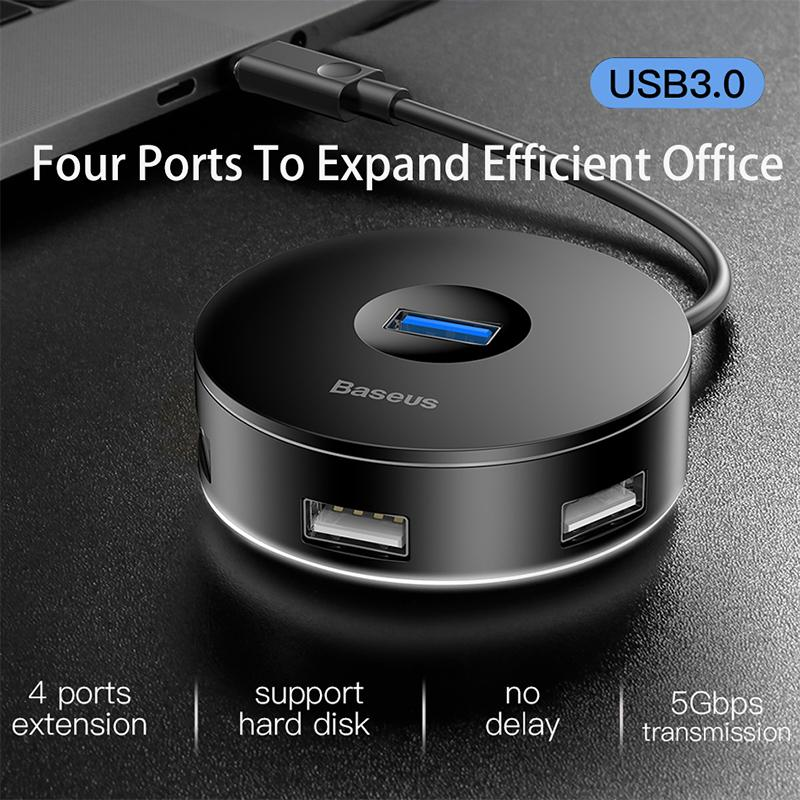 Baseus Type C HUB to USB3.0 + 3xUSB2.0 / USB C hub / USB hub for Macbook Pro HUB Adapter for Huawei P20 Computer Hard Drive Accessory CAHUB-G01