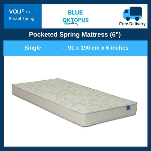 Voli Air Individual Barrel Pocketed Spring Mattress (6″) - Single Size