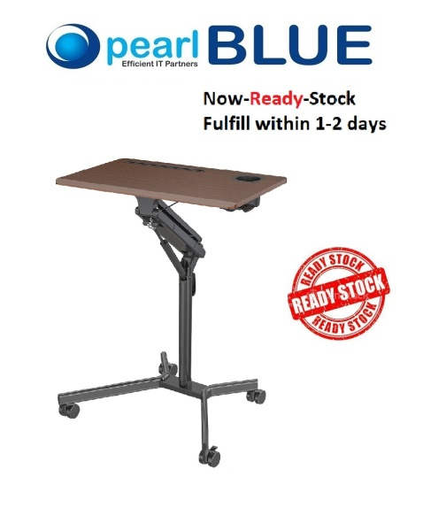 [READY STOCK] High Quality Ergonomic-Mobile office height adjustable table for laptop desk ( Local Stock ) White / Brown / Black ( Ready Stocks )
