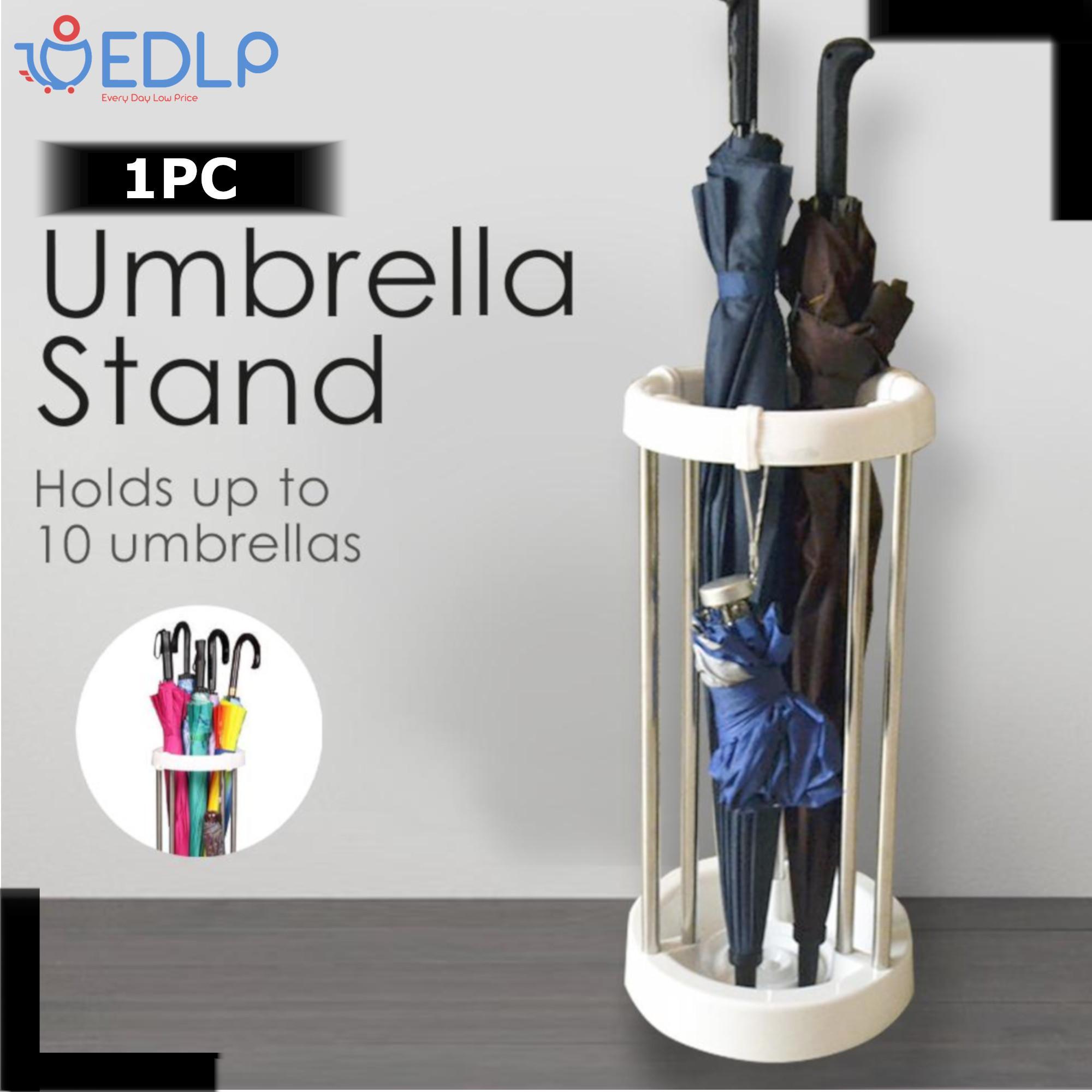 White Umbrella Stand - Plastic by EDLP