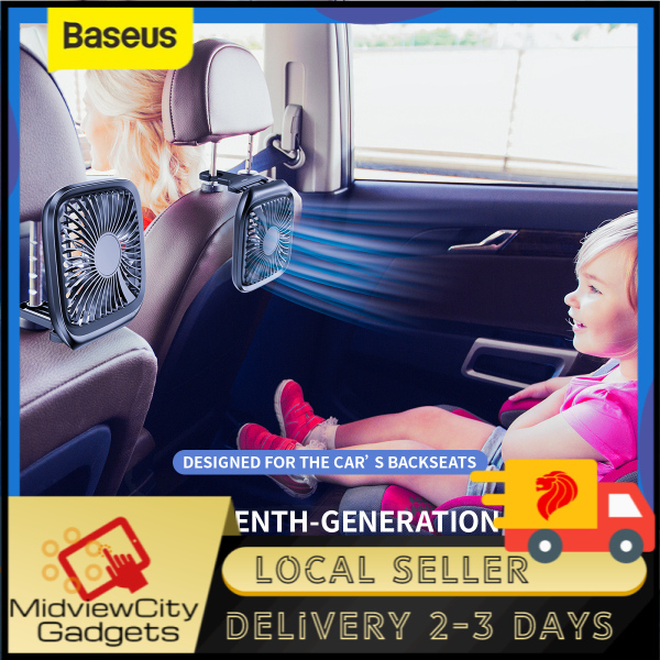 Baseus 3-Speed USB Cooling Fan Silent Auto Cooling Small Fan For Car Backseats Air Conditioner Mini USB Fan For Office Gadgets Desktop Desk