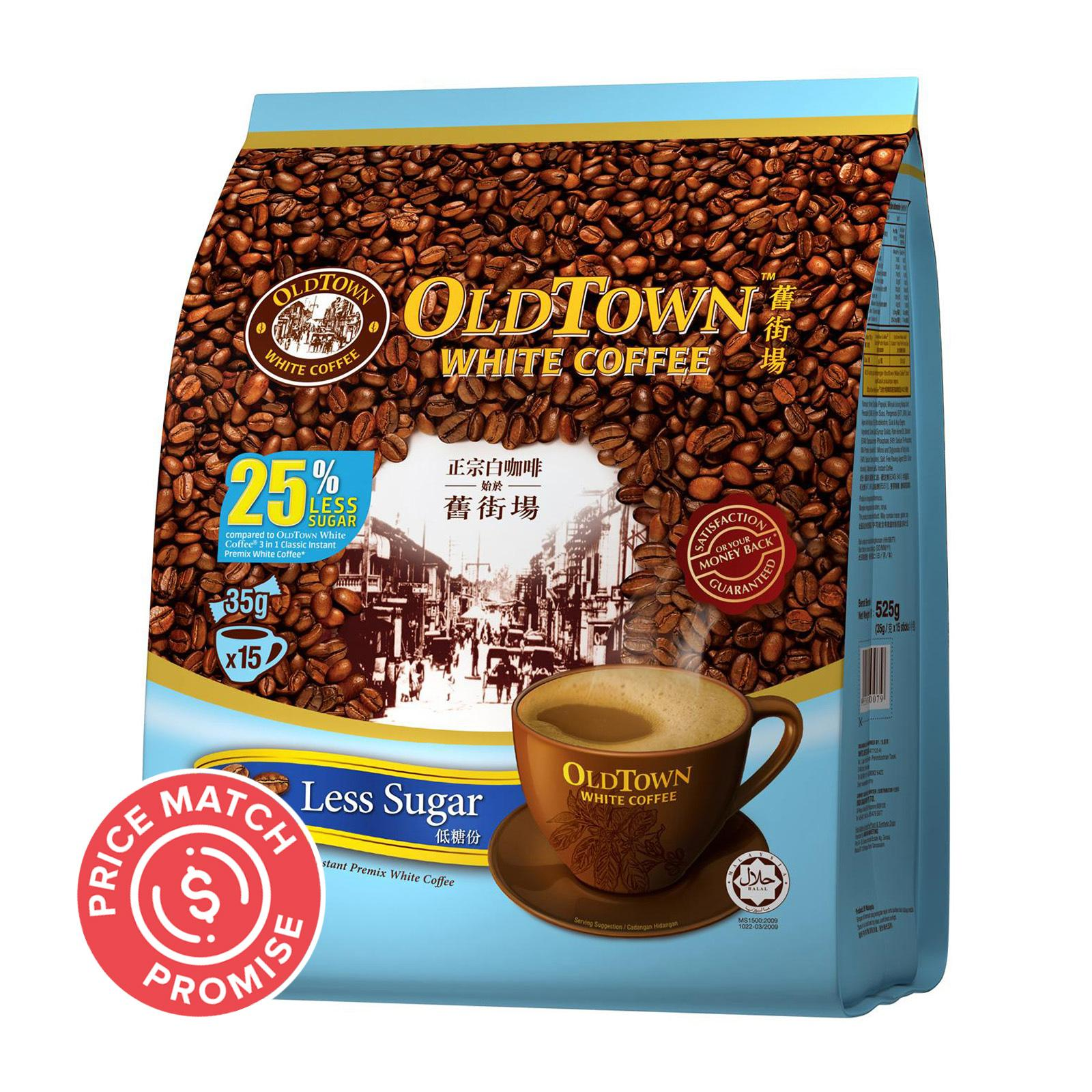 OLD TOWN White Coffee 3 in 1 Less Sugar 15sX35g