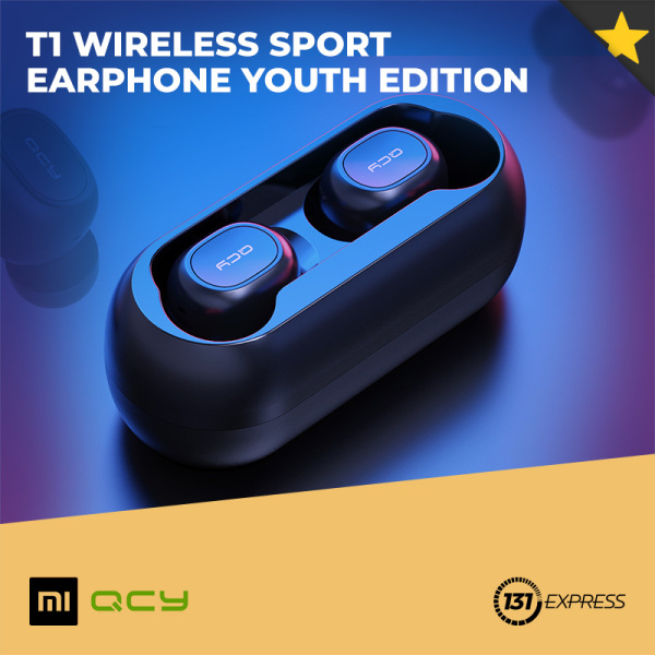 Xiaomi QCY T1 Wireless Sport Earphone Youth Edition [ In-ear Headphone, Earbuds, Multi-Point, Stereo, Bluetooth 5.0, IPX4, TWS, HD, Noise Cancellation, Realtek Chip, Long Endurance, Fast Pairing, Voice Control, Wearable, Mobile Accessory, Music ] Singapore
