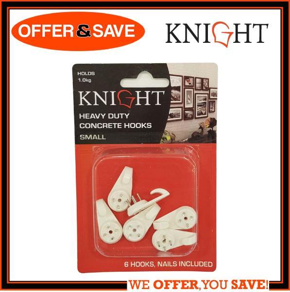 KNIGHT Heavy Duty Concrete Hook / Wall Hook Small 6pcs - 12320