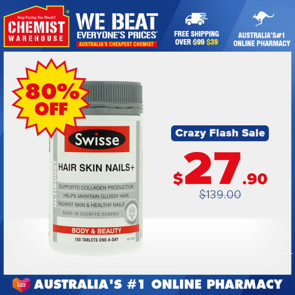 Buy Swisse Ultiboost Hair Skin Nails + 180 Tablets (EXP Date:11/2021) Support Collagen Production 胶原肽蛋白片 护发护甲护肤 [Chemist Warehouse] Singapore