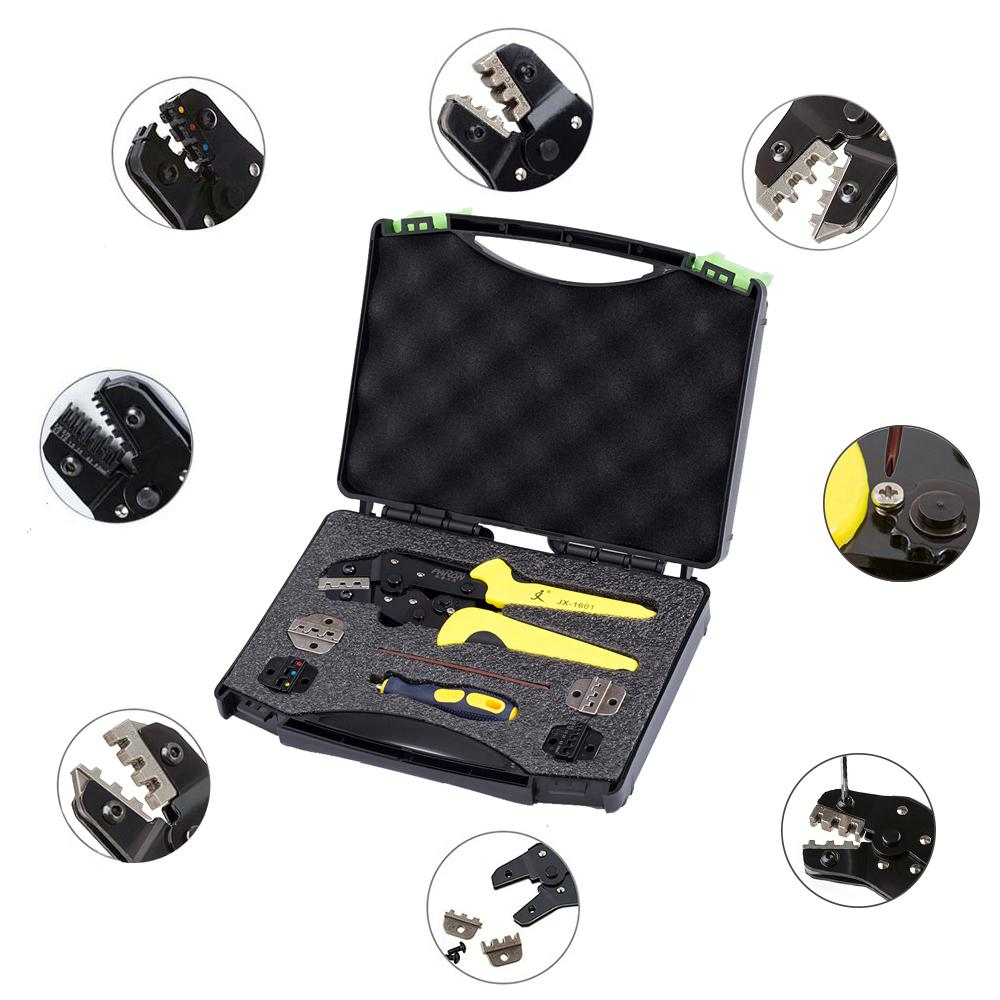 Big House PARON JX-DS5 Wire Crimpers Engineering Ratcheting Terminal Crimping Pliers(Including Toolbox)