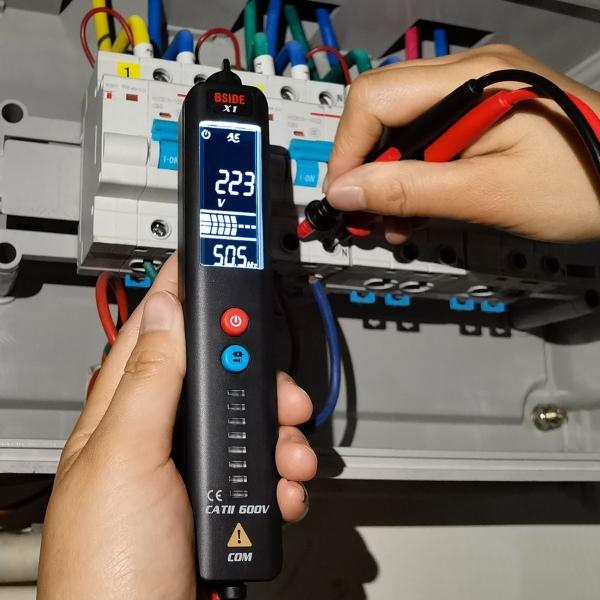 Máy Kiểm Tra Dây Trực Tiếp Có Thể Điều Chỉnh Độ Nhạy Không Tiếp Xúc Với Nước Ép Bút Dò NCV Hz AC/DC Nhiệt Kế Hồng Ngoại Điện Áp Tester, Kỹ Thuật Số Vạn Năng