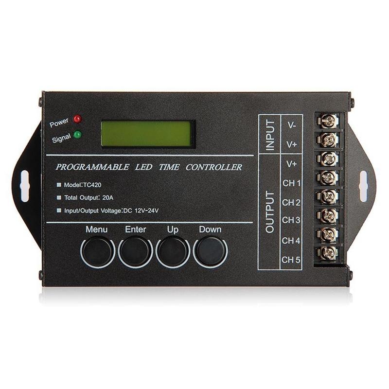 Bảng giá 20A Programmable Timer controller dc12-24v for LED RGB / monochromatic stripes Phong Vũ