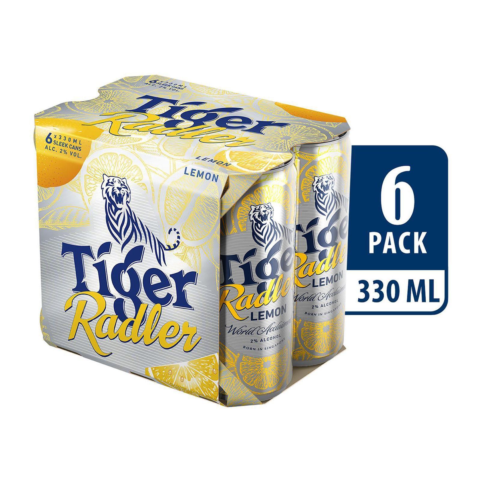 Tiger Radler Lemon Beer Can 6x330ml