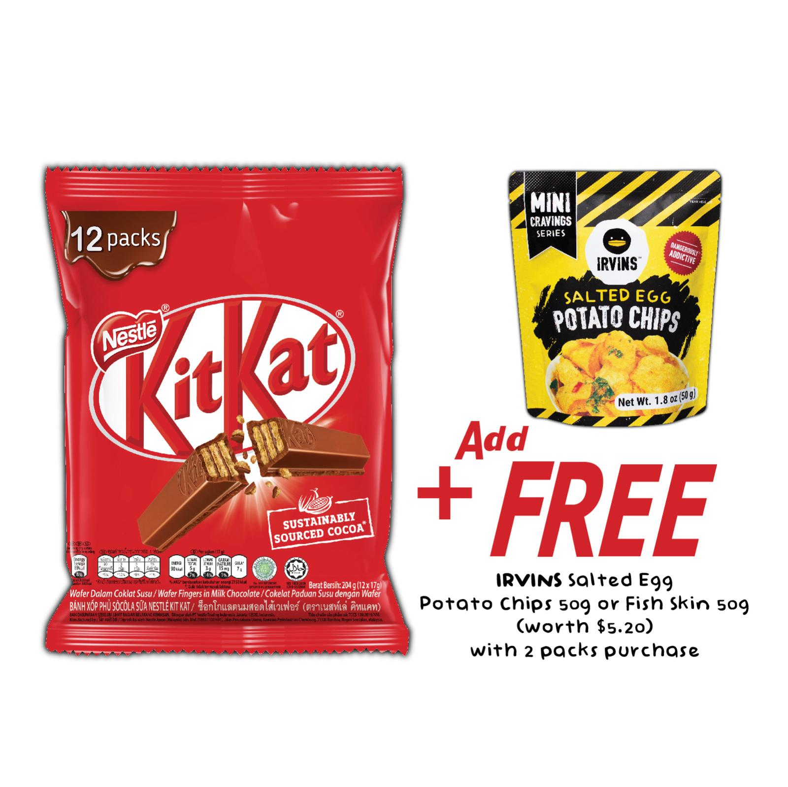 NESTLE KIT KAT Finger Milk Chocolate Bar Snack Pack