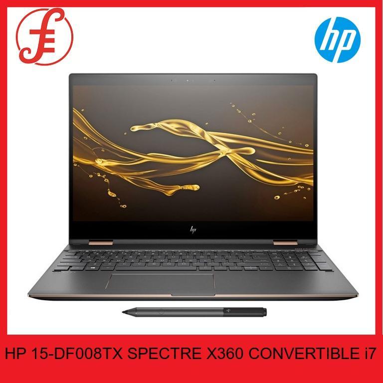 HP 15-DF008TX SPECTRE X360 CONVERTIBLE (15-DF008TX) i7-8750H 16GB DDR4 2666 SDRAM  512GB PCIe-SSD  GTX1050Ti (4GB DDR5) 15.6INCH 4K IPS TOUCH W10 HOME