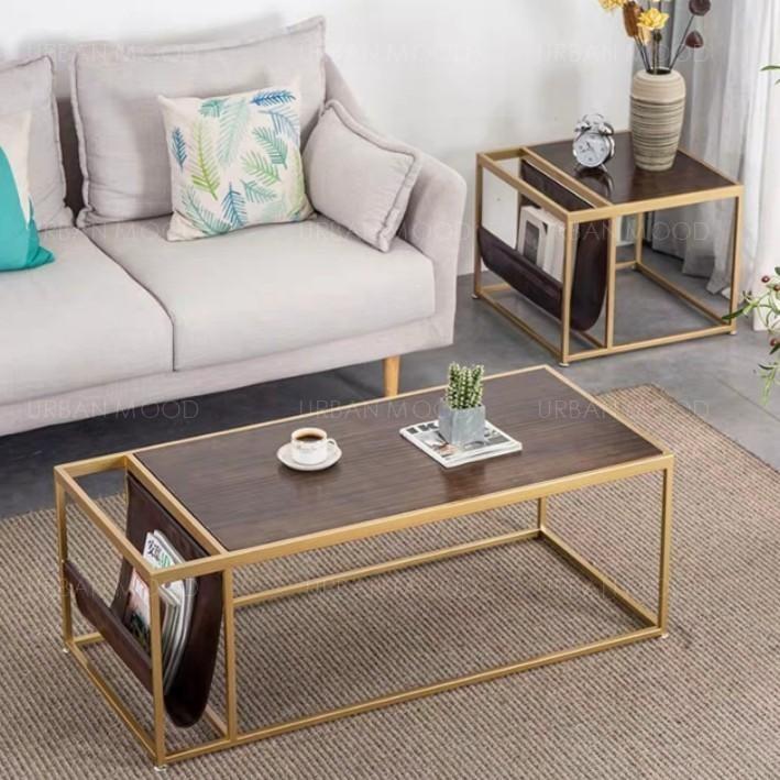 ARTEMIS Mixed Elements Magazine Holder Coffee Table