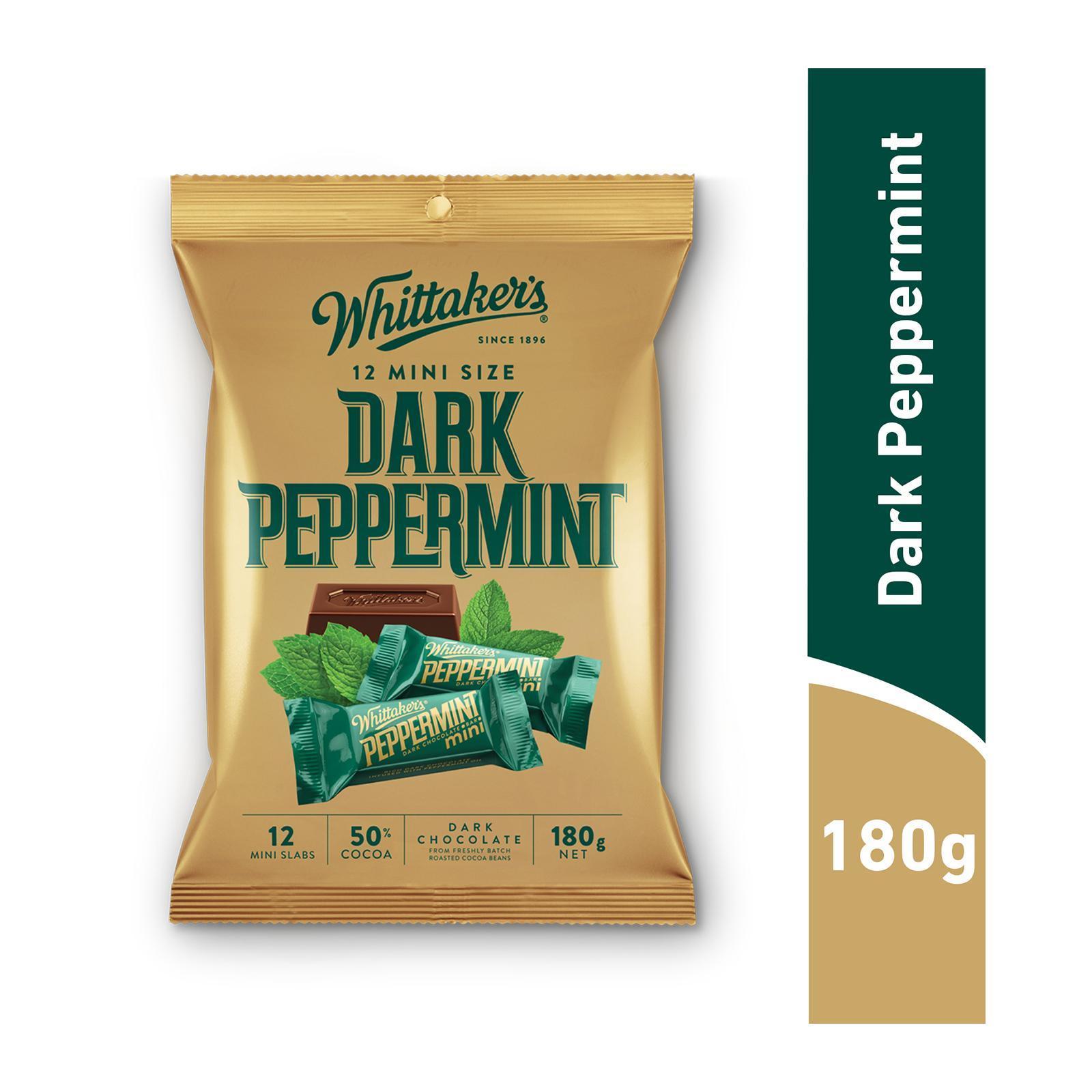 WHITTAKER'S Mini Dark Chocolate - Dark Peppermint 12s