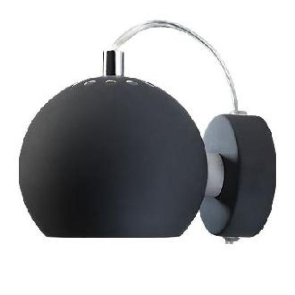 FRANDSEN BALL WALL LAMP MATT BLACK    - DELIGHT