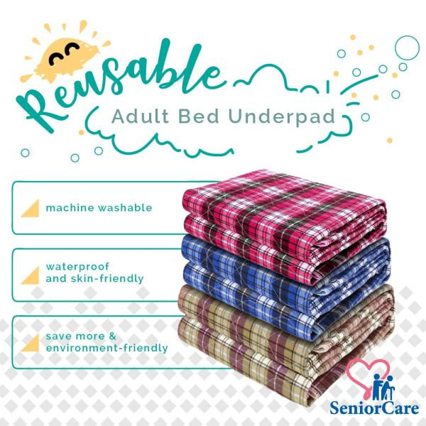 Buy ^SAVE MORE^ Machine Washable Reusable Underpad - Environment Friendly Extra Large Waterproof Incontinence Bed Pad Matteress Bedsheet Protector For Elderly Baby Kids Senior Patient Care Bedding Pee Pad Singapore