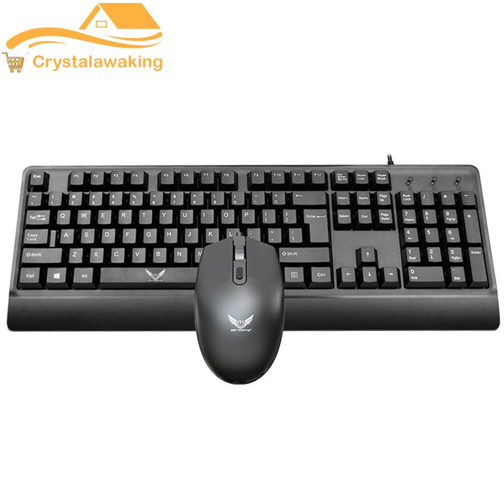 Zerodate Wired 104 Keys PC Keyboard 1200DPI Optical USB Office Mouse Kit Singapore