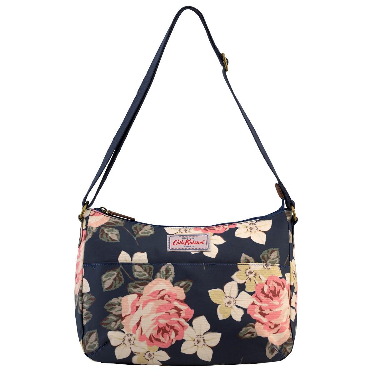 7d05fcbff Cath Kidston Matt Oilcloth The All Day Bag Crossbody Handbag Richmond Rose  Colour Dark Navy 556767