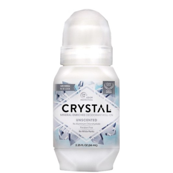 Buy [ LOCAL READY STOCK ] Crystal Body Deodorant, Mineral-Enriched Deodorant Roll-On, Unscented, 2.25 fl oz (66 ml) Singapore
