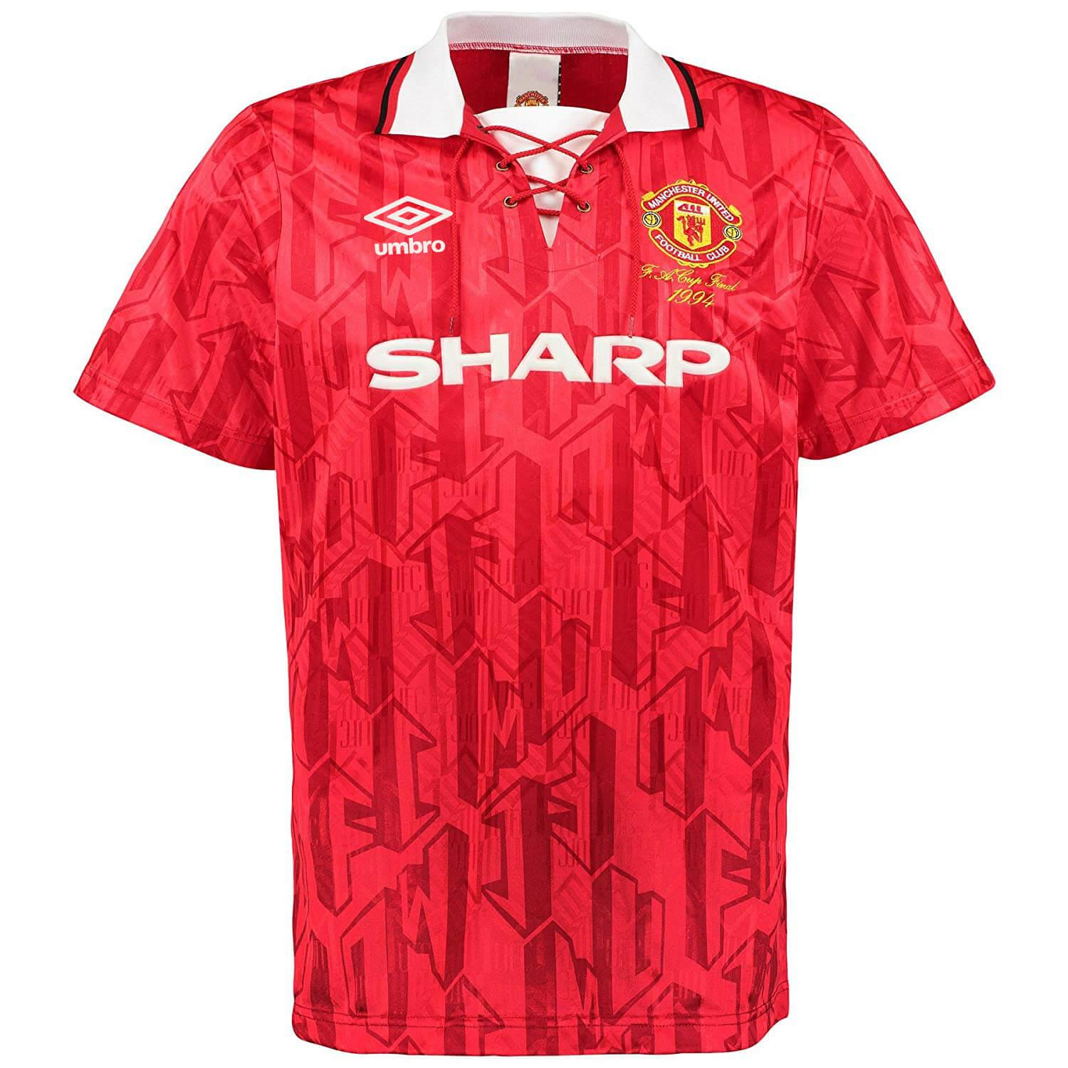 e2d5bfeaf Brand New Manchester United Umbro 1994 FA Cup Final Home Retro Football  Jersey Import From UK