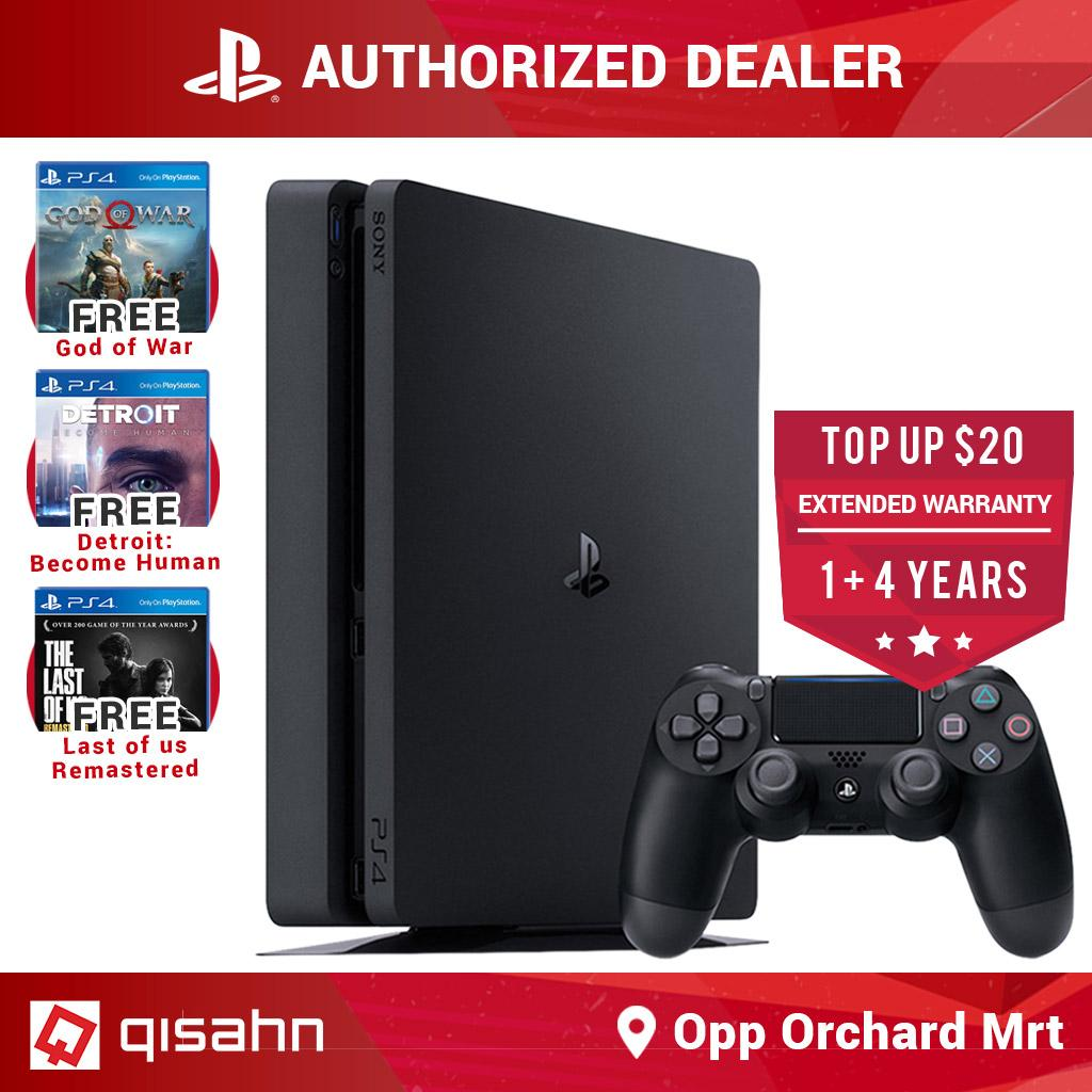 Sony PS4 Playstation 4 Slim Console Hits Bundle (God of War, Detroit, Last of Us)