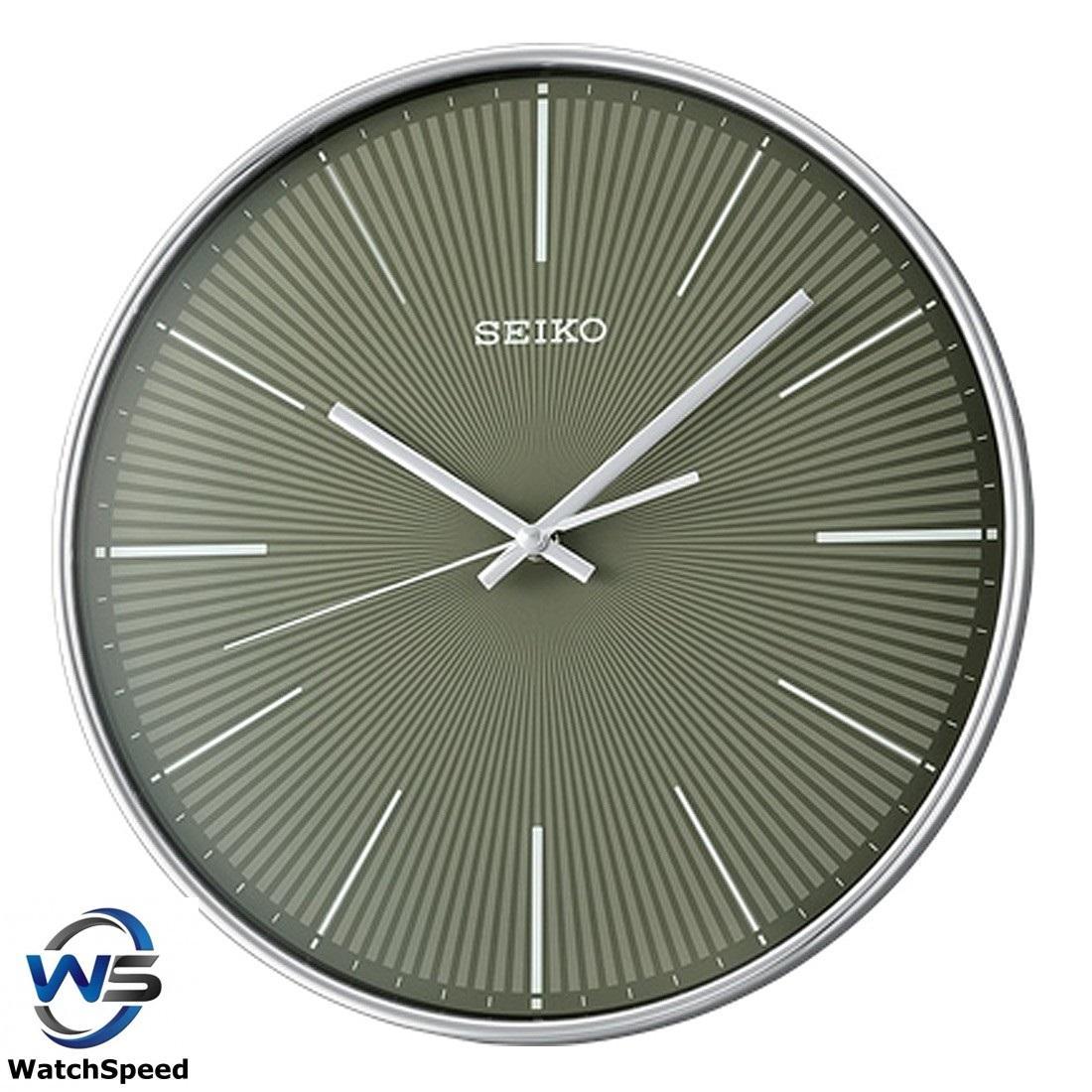 Seiko QXA733AN QXA733A Analog Charcoal Dial Wall Clock