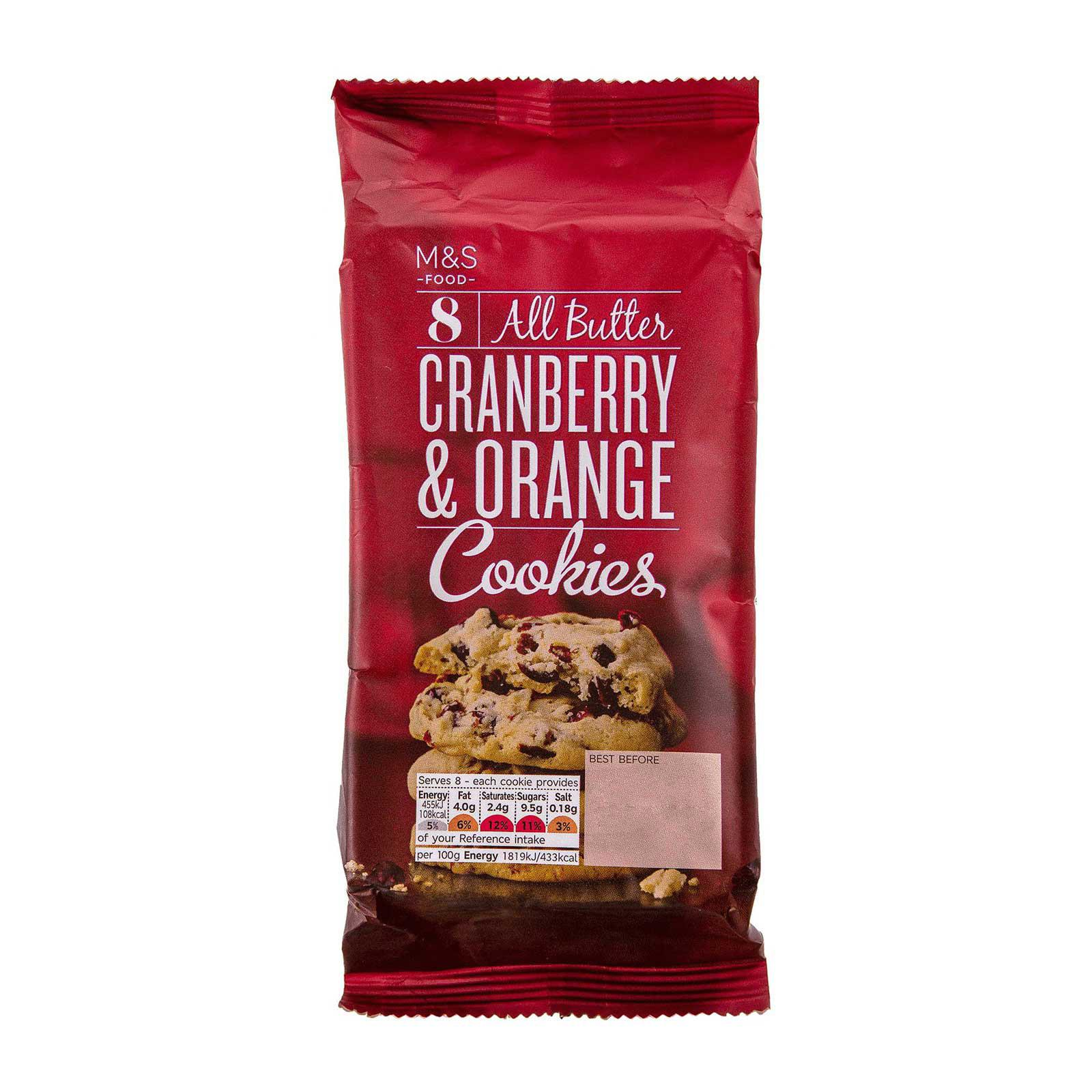 Marks & Spencer All Butter Cranberry and Orange Cookies
