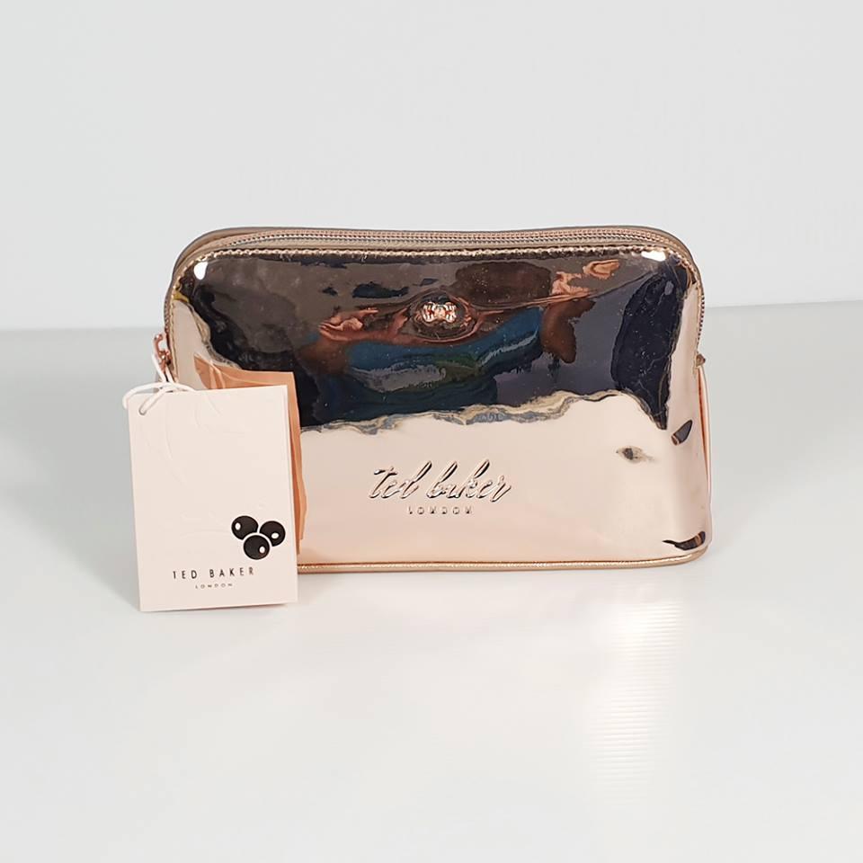 8485cd987 Ted Baker Lindsay Mirrored Makeup Bag Rose Gold