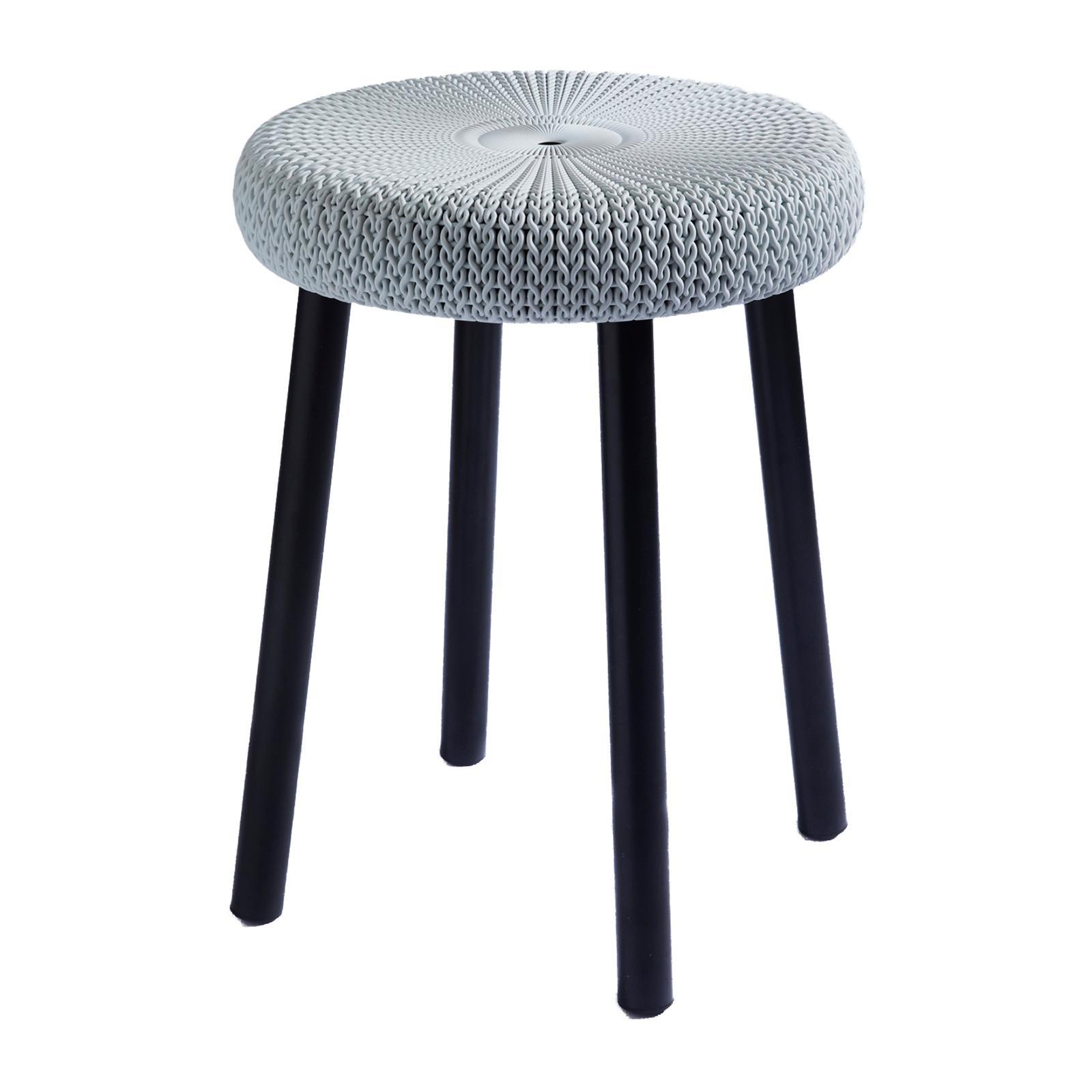 Keter Cozy Stool Foggy Grey