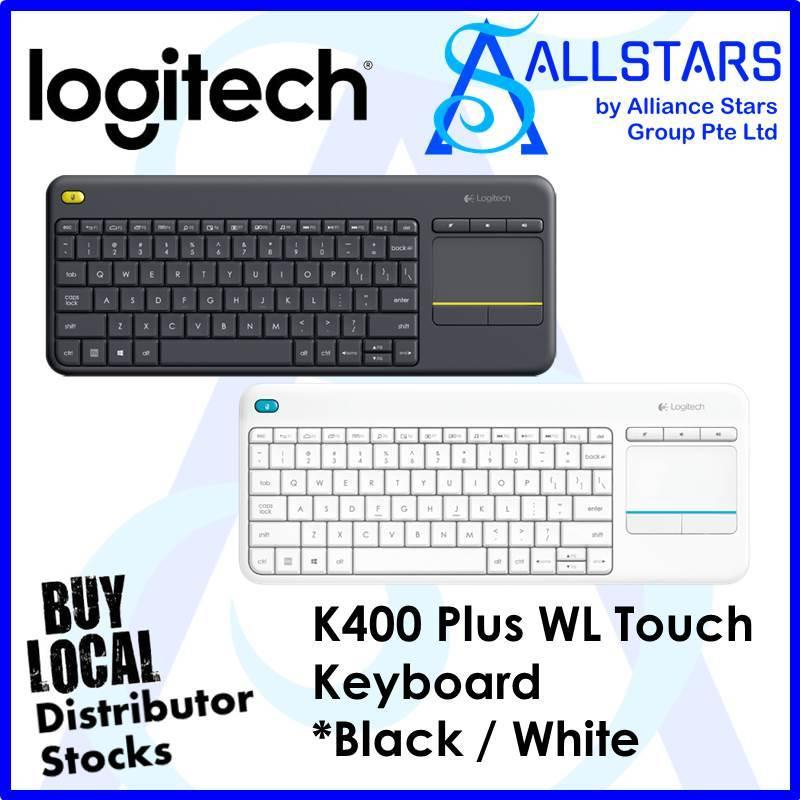 LOGITECH BLACK K400 PLUS WL TOUCH KEYBOARD BLACK (920-007165)-WRTY 1YR W/BANLEONG Singapore