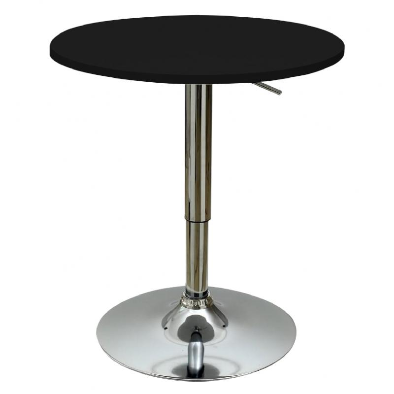 JIJI ANICA Round Adjustable Bar Table (60CM) -  Adjustable Height 70CM - 90CM / (Free Installation + 12 Months Warranty)